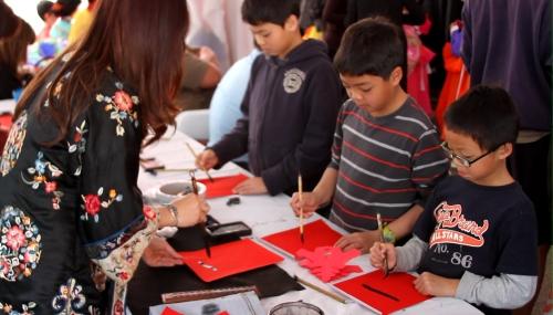 Pacific Asia Museum LNY callig